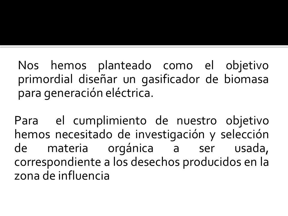 Los objetivos secundarios que se plantearon para el cumplimiento de nuestra meta son: - Seleccionar la materia orgánica a ser usada.