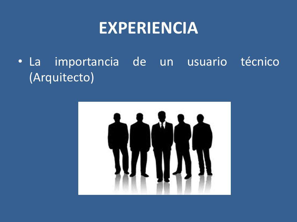 EXPERIENCIA La importancia de un usuario técnico (Arquitecto)