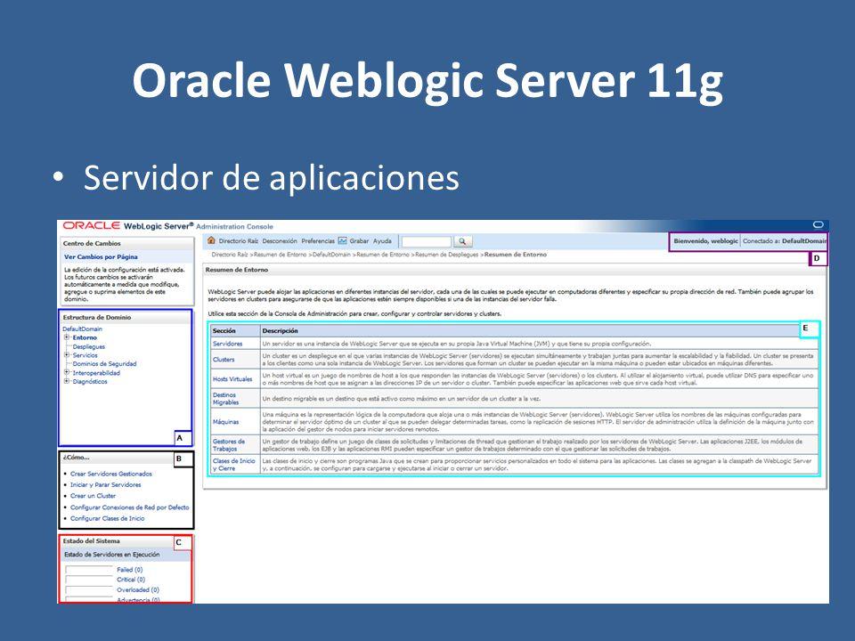 Oracle Weblogic Server 11g Servidor de aplicaciones