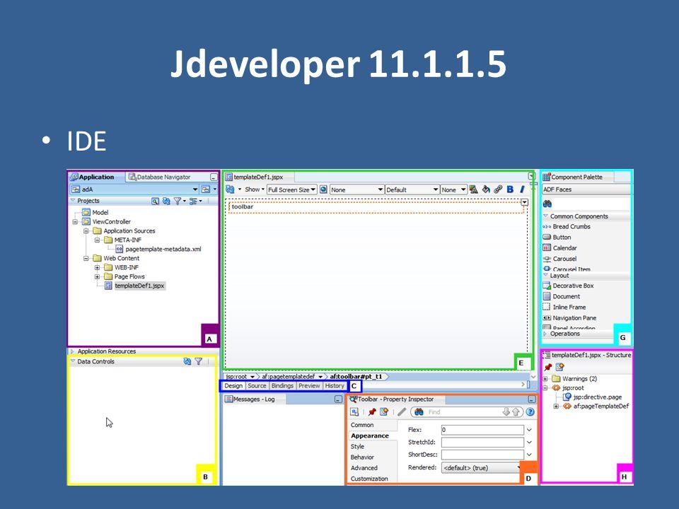 Jdeveloper 11.1.1.5 IDE