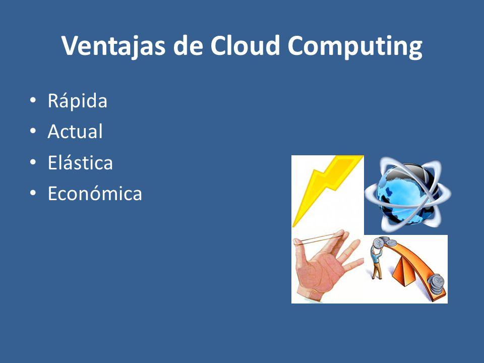 Ventajas de Cloud Computing Rápida Actual Elástica Económica