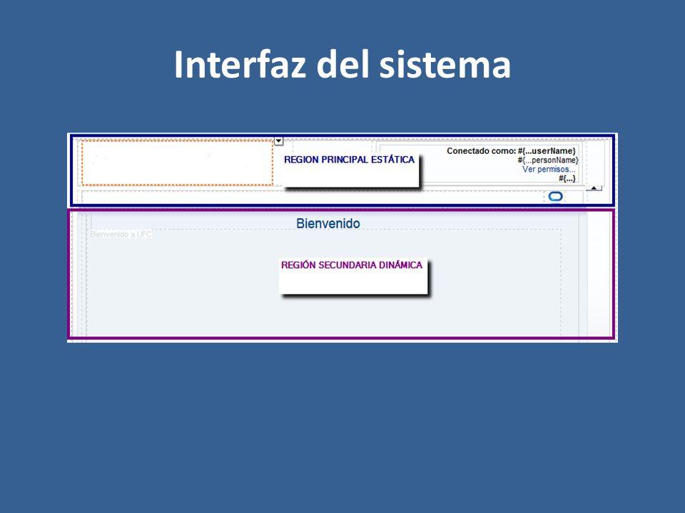 Interfaz del sistema
