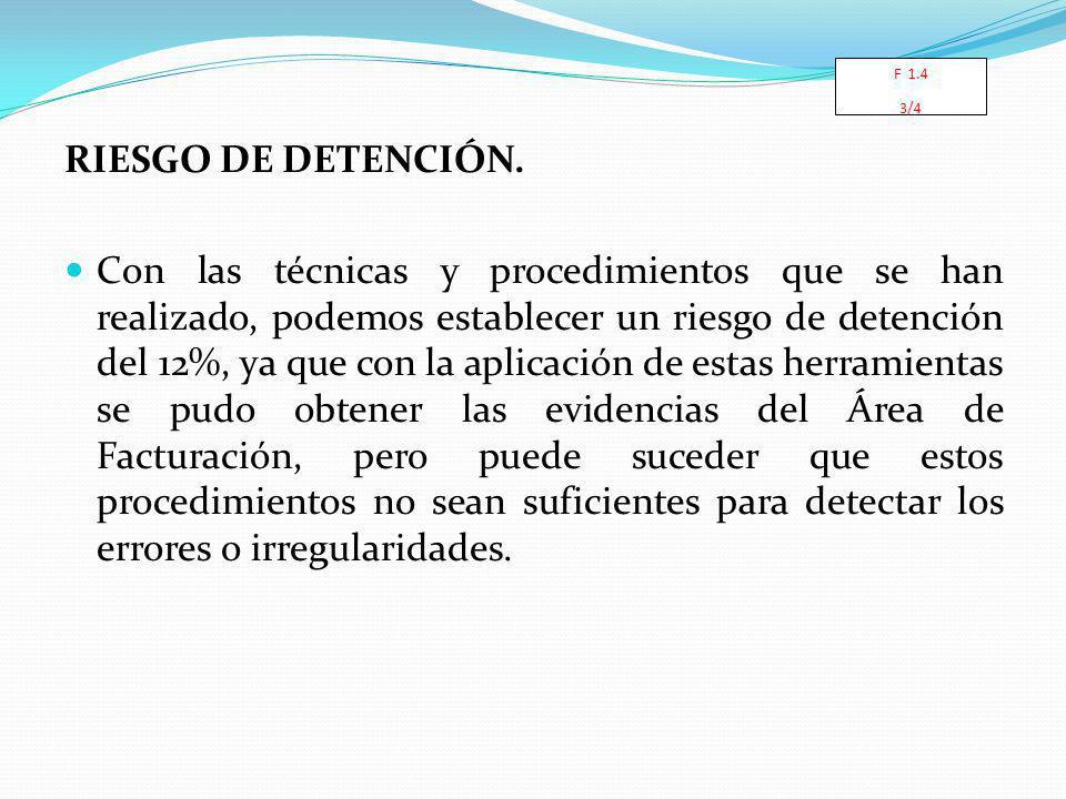 RIESGO DE DETENCIÓN.