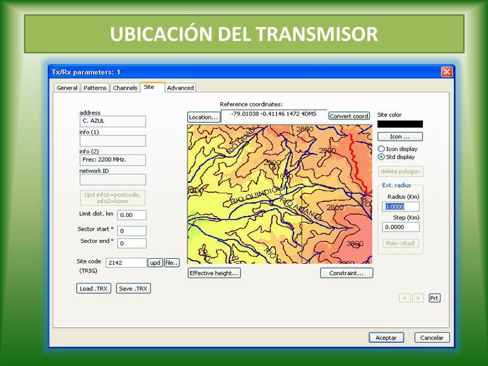 UBICACIÓN DEL TRANSMISOR