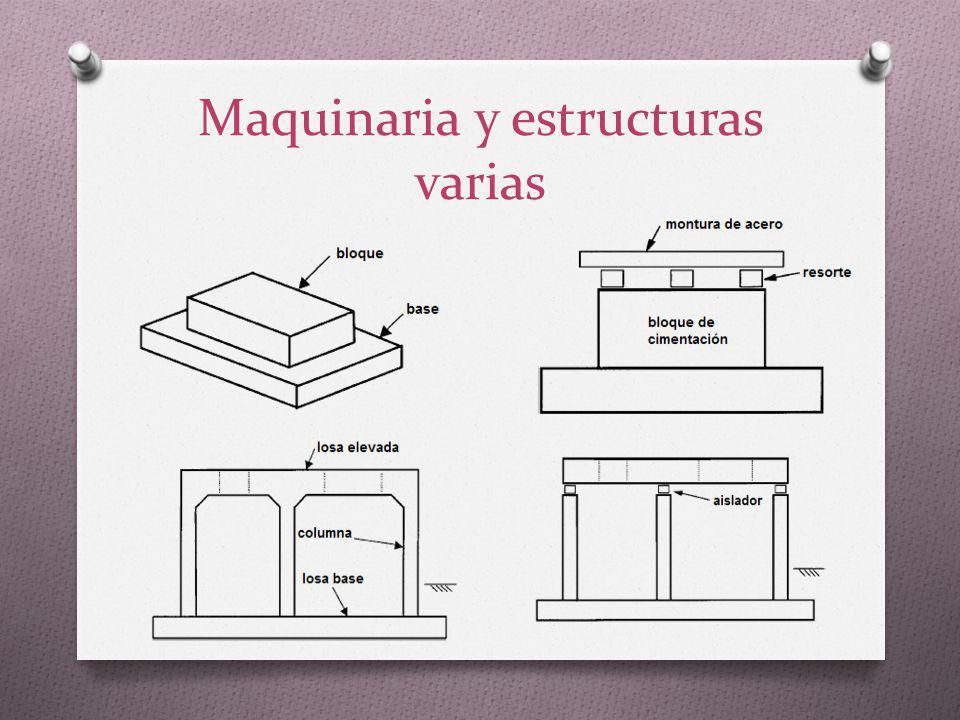 Maquinaria y estructuras varias