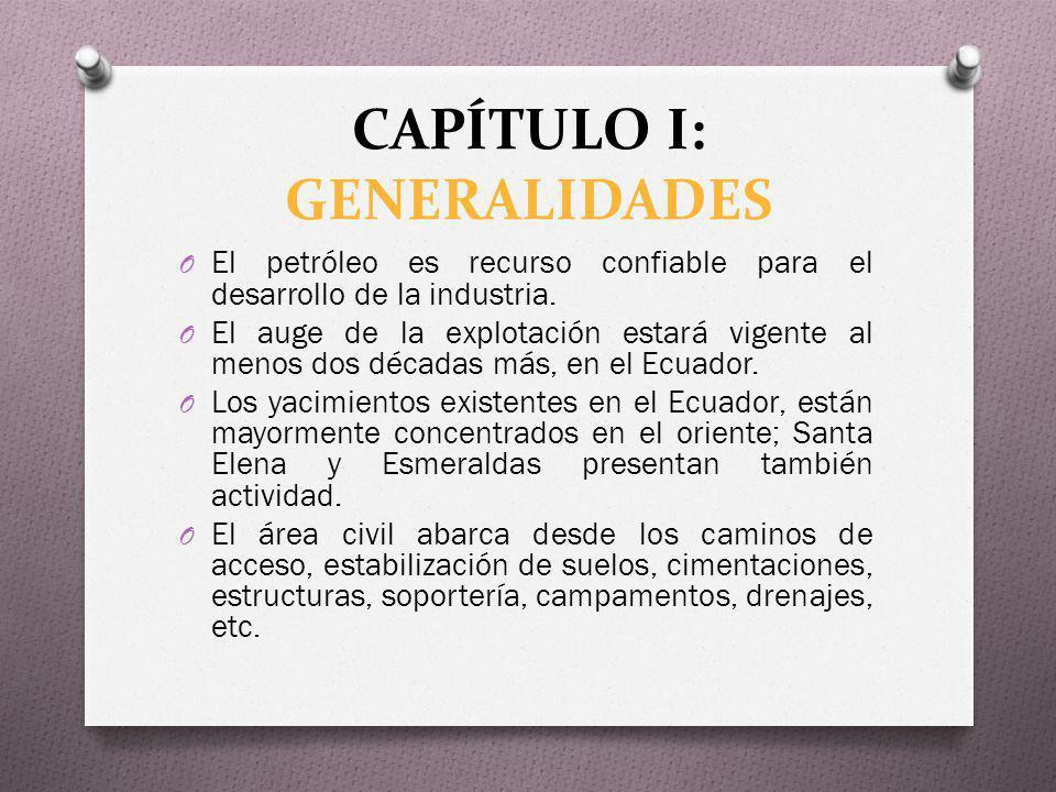 CAPÍTULO I: ANTECEDENTES O Empresas extranjeras han tenido a cargo la exploración, explotación, refinación, almacenamiento y transporte de crudo y derivados y la comercialización del crudo en el país.