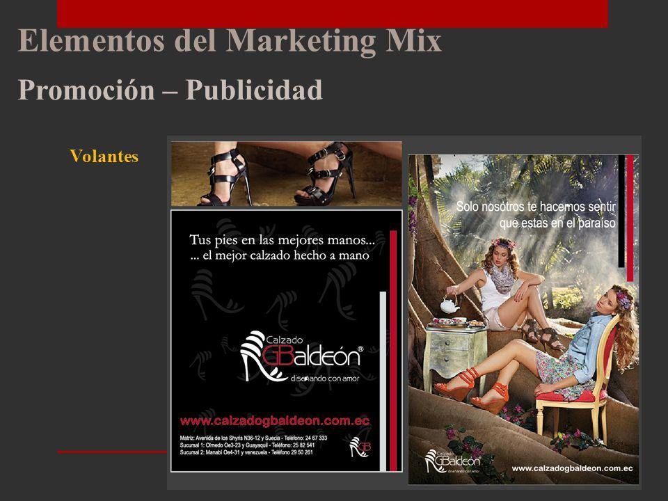 Elementos del Marketing Mix Promoción – Publicidad Material Promocional Catálogo Rotulación Roll up