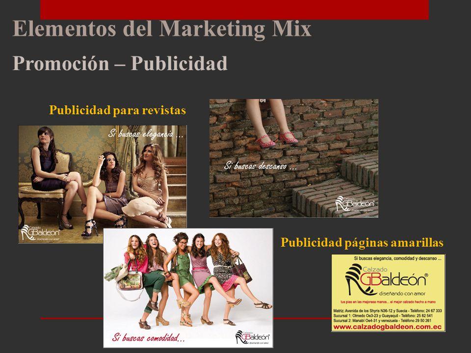 Elementos del Marketing Mix Promoción – Publicidad Volantes