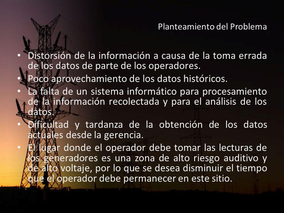 Planteamiento del Problema Como resultado de este proceso manual se producían diferencias entre el total generado computado por la empresa contra el computo del CENACE, para el pago mensual de la energía generada.