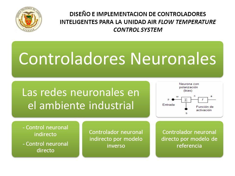 Controladores Neuronales Las redes neuronales en el ambiente industrial - Control neuronal indirecto - Control neuronal directo Controlador neuronal i
