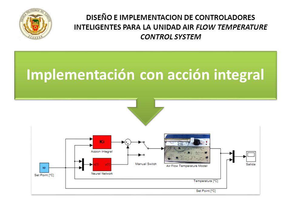 Implementación con acción integral DISEÑO E IMPLEMENTACION DE CONTROLADORES INTELIGENTES PARA LA UNIDAD AIR FLOW TEMPERATURE CONTROL SYSTEM