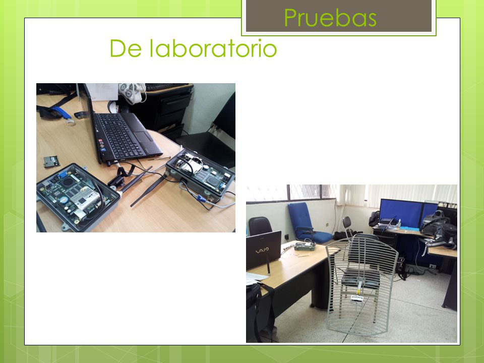 De laboratorio Pruebas