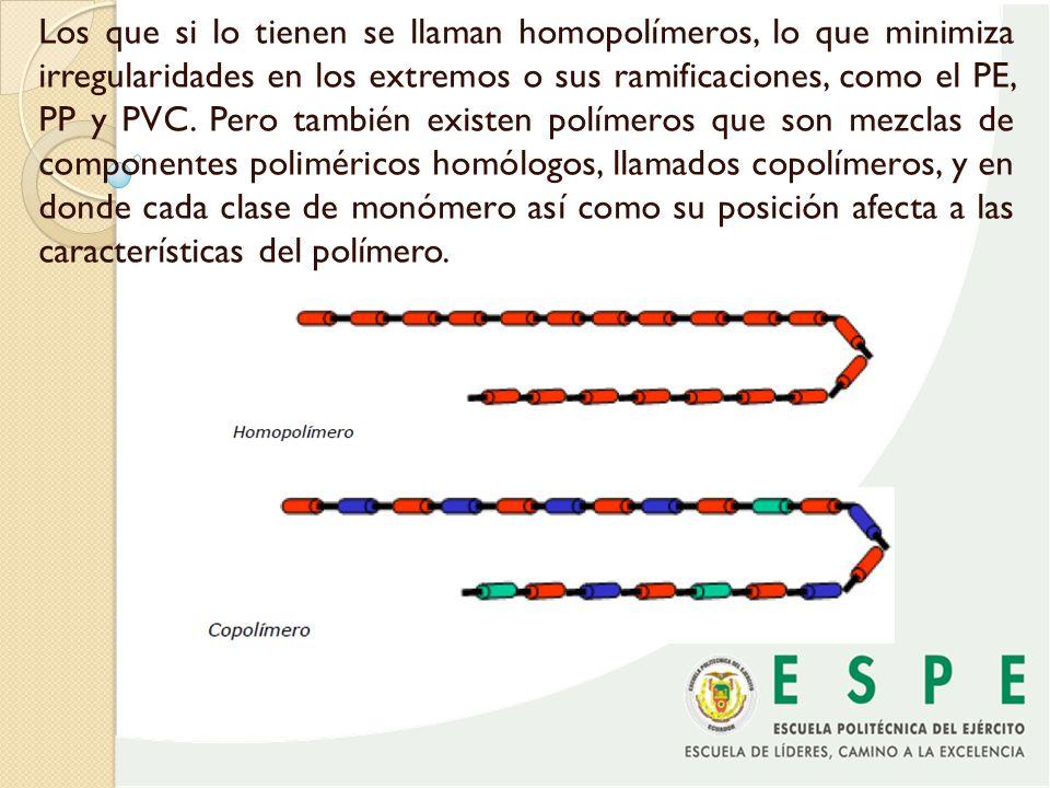 CLASIFICACION DE LOS POLIMEROS El criterio más usado para clasificar los polímeros es en función de su comportamiento mecánico y térmico: Termoplásticos Se componen de largas cadenas lineales flexibles, retorcidas con enlaces secundarios débiles y entrelazadas entre sí, pero al interior de las cadenas los enlaces comúnmente son covalentes.