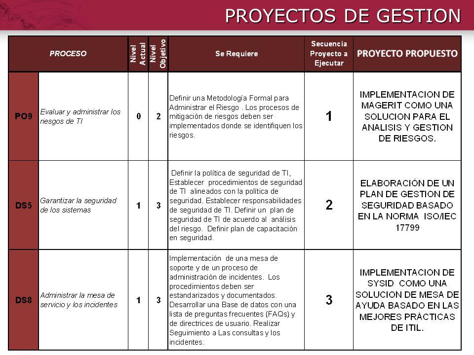 PROYECTOS DE GESTION