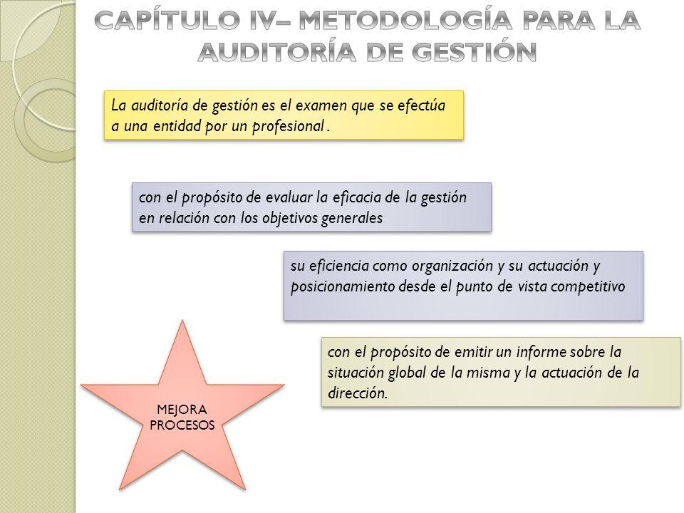 con el propósito de evaluar la eficacia de la gestión en relación con los objetivos generales con el propósito de emitir un informe sobre la situación