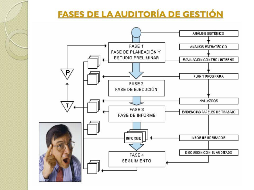 FASES DE LA AUDITORÍA DE GESTIÓN FASES DE LA AUDITORÍA DE GESTIÓN