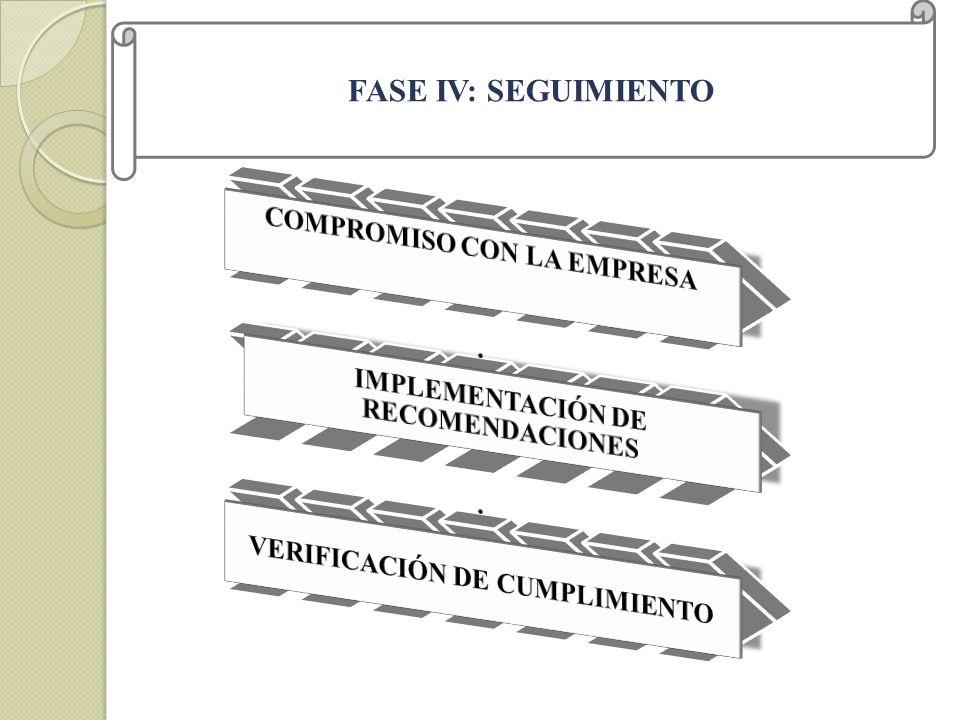 FASE IV: SEGUIMIENTO