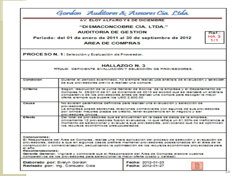 Comunicación de resultados BORRADOR DEL INFORME LECTURA DEL BORRADOR DEL INFORME INFORME FINAL