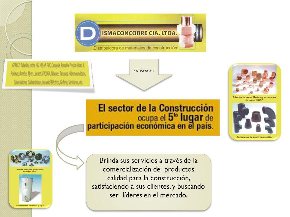 Brinda sus servicios a través de la comercialización de productos calidad para la construcción, satisfaciendo a sus clientes, y buscando ser líderes e