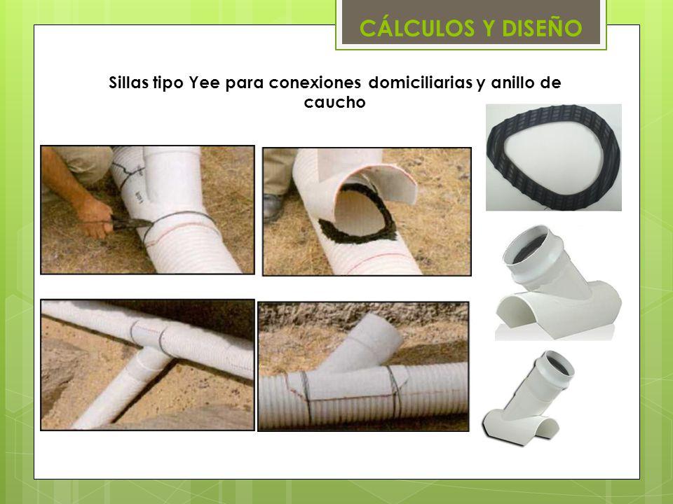 Sillas tipo Yee para conexiones domiciliarias y anillo de caucho CÁLCULOS Y DISEÑO