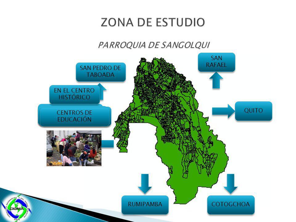 QUITO SAN RAFAEL QUITO COTOGCHOA SAN PEDRO DE TABOADA RUMIPAMBA EXTENSIÓN 50 km² EN EL CENTRO HISTÓRICO INFRAESTRUCTURA ADMINISTRATIVA MERCADO CENTROS DE EDUCACIÓN