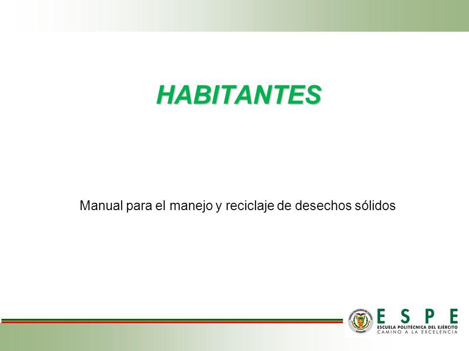 HABITANTES Manual para el manejo y reciclaje de desechos sólidos