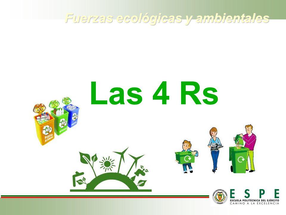 Fuerzas ecológicas y ambientales Las 4 Rs