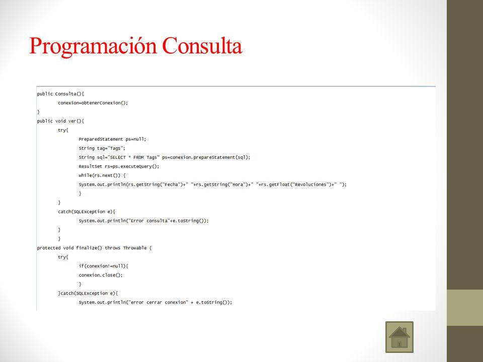 Programación Consulta