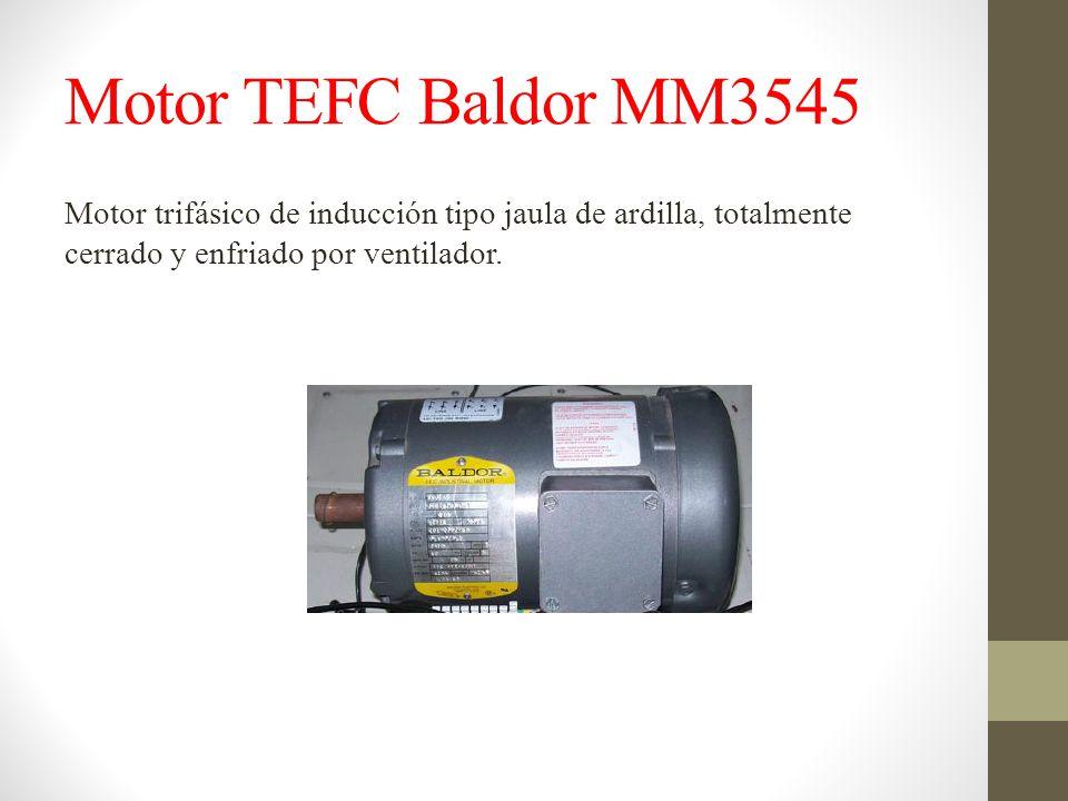 Motor TEFC Baldor MM3545 Motor trifásico de inducción tipo jaula de ardilla, totalmente cerrado y enfriado por ventilador.