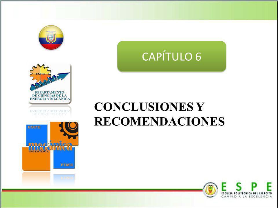 CONCLUSIONES Y RECOMENDACIONES CAPÍTULO 6