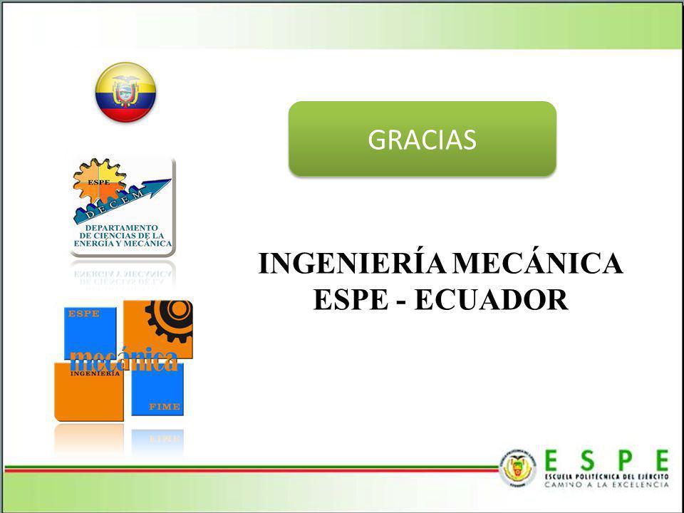 INGENIERÍA MECÁNICA ESPE - ECUADOR GRACIAS