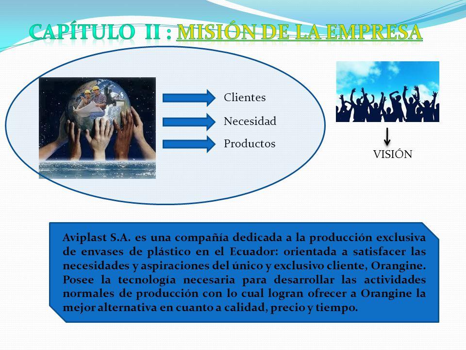 Clientes Necesidad Productos VISIÓN Aviplast S.A.
