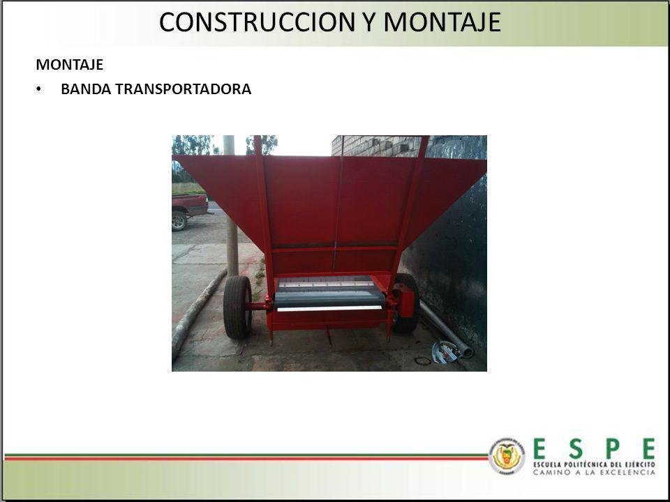 MONTAJE BANDA TRANSPORTADORA CONSTRUCCION Y MONTAJE