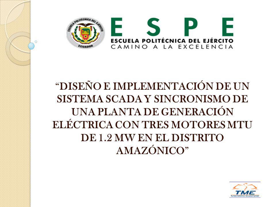 DISEÑO E IMPLEMENTACIÓN DE UN SISTEMA SCADA Y SINCRONISMO DE UNA PLANTA DE GENERACIÓN ELÉCTRICA CON TRES MOTORES MTU DE 1.2 MW EN EL DISTRITO AMAZÓNIC