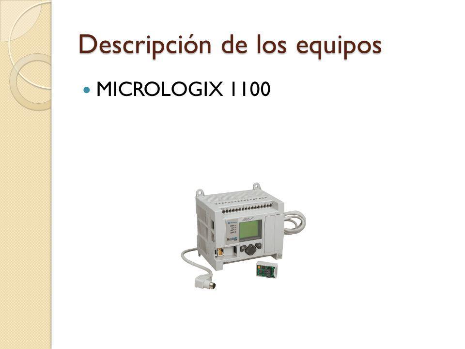 Descripción de los equipos MICROLOGIX 1100