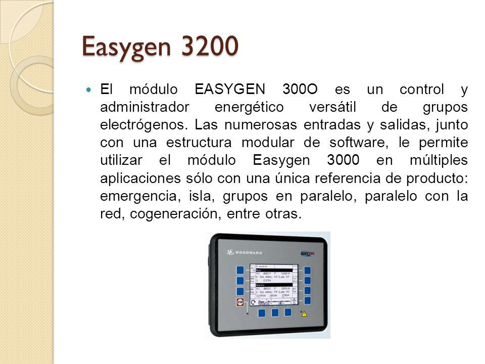 Easygen 3200 El módulo EASYGEN 300O es un control y administrador energético versátil de grupos electrógenos. Las numerosas entradas y salidas, junto