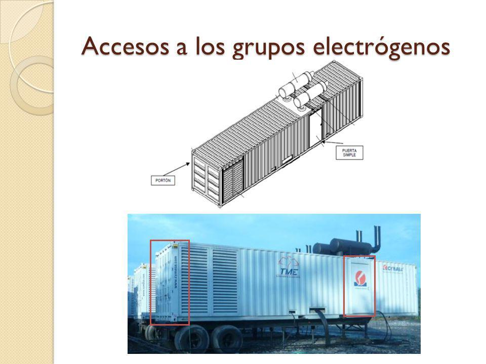 Accesos a los grupos electrógenos