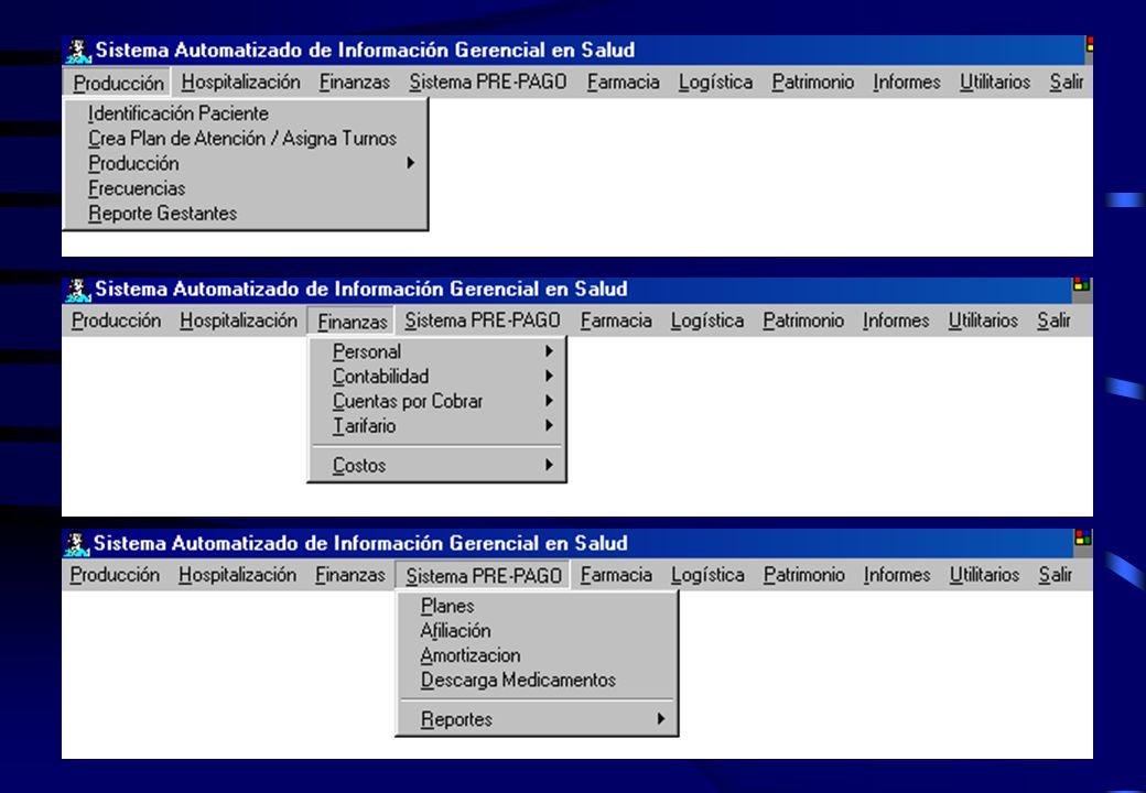 1.- A través del Sistema de Información Gerencial - SIMAX Este sistema consta de los siguientes módulos: 1.1.- Producción.