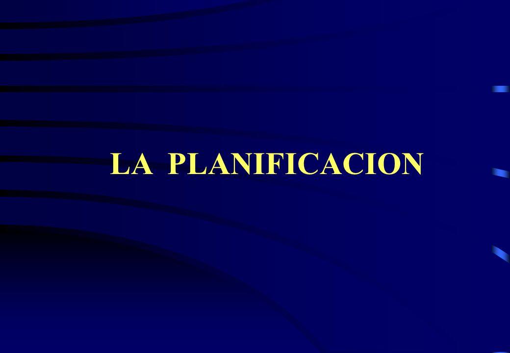 LA PLANIFICACION