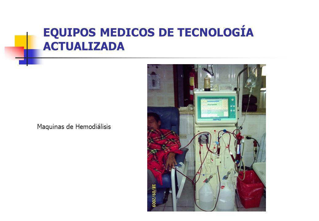 EQUIPOS MEDICOS DE TECNOLOGÍA ACTUALIZADA Maquinas de Hemodiálisis