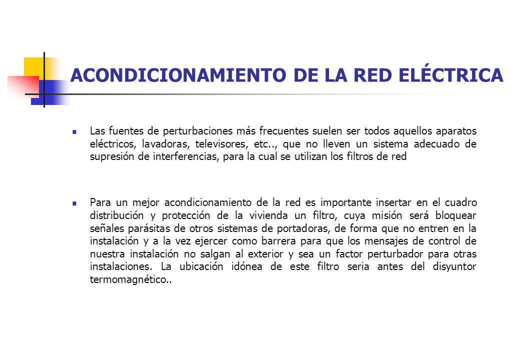 ACONDICIONAMIENTO DE LA RED ELÉCTRICA Las fuentes de perturbaciones más frecuentes suelen ser todos aquellos aparatos eléctricos, lavadoras, televisor