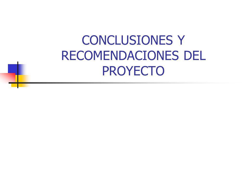 CONCLUSIONES Y RECOMENDACIONES DEL PROYECTO