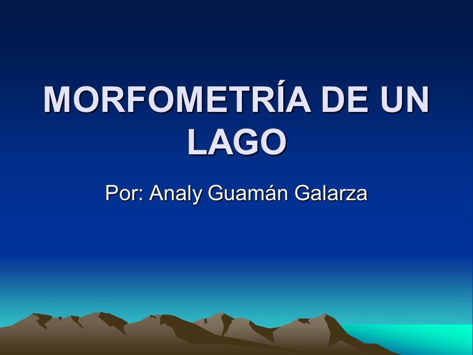 Parámetros morfométricos Definición del contorno de un lago Se utiliza la línea en el mapa, o en la batimetría, como representación de la costa o límite del lago.