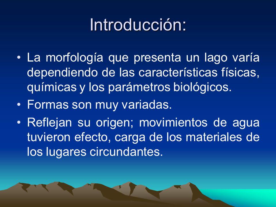 Parámetros morfométricos Estos parámetros describen la form y características físicas de un lago.