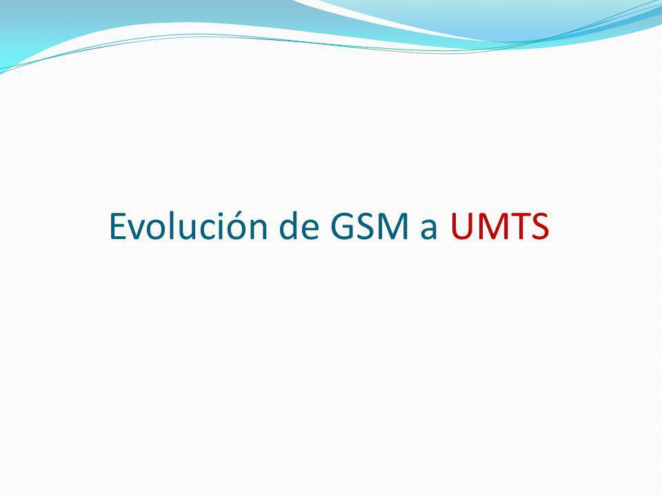Evolución de GSM a UMTS