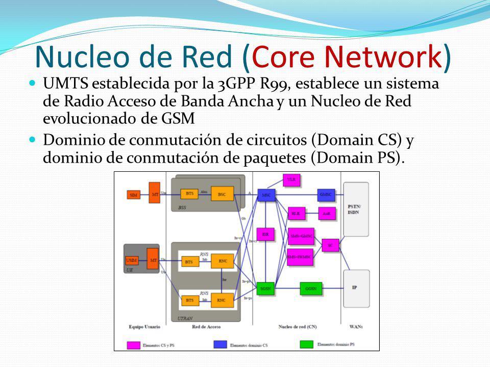 Nucleo de Red (Core Network) UMTS establecida por la 3GPP R99, establece un sistema de Radio Acceso de Banda Ancha y un Nucleo de Red evolucionado de