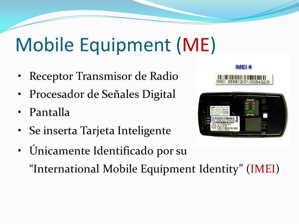 Mobile Equipment (ME) Receptor Transmisor de Radio Procesador de Señales Digital Pantalla Se inserta Tarjeta Inteligente Únicamente Identificado por s