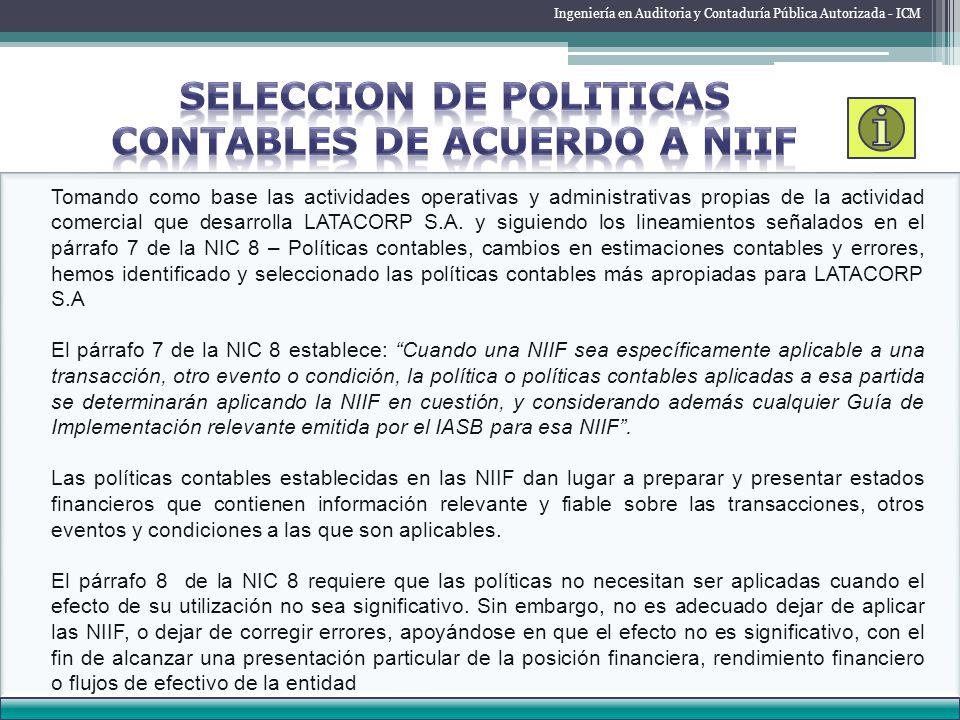 ESTADO DE RESULTADO Ingeniería en Auditoria y Contaduría Pública Autorizada - ICM