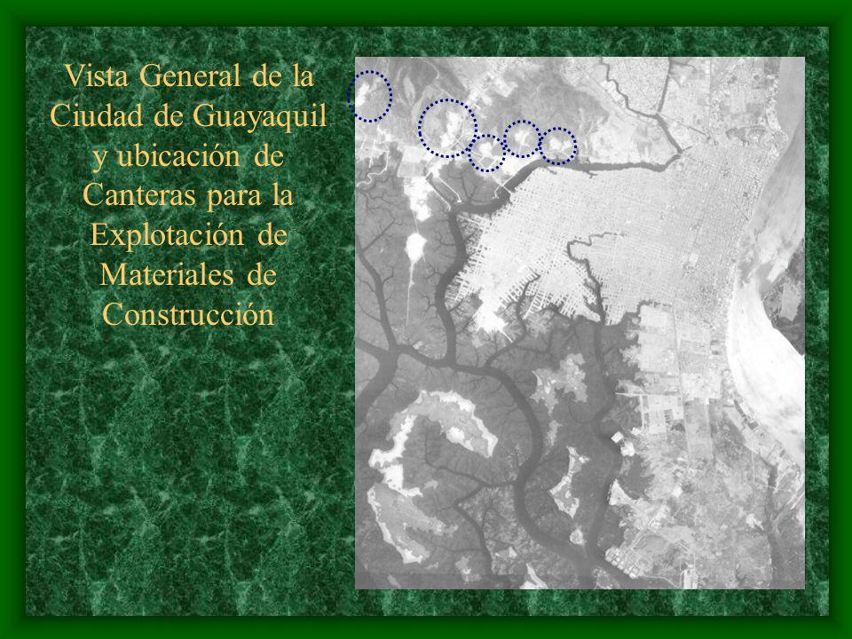 EXPLOTACIÓN DE AGREGADOS EN LAS CANTERAS CERCANAS A GUAYAQUIL