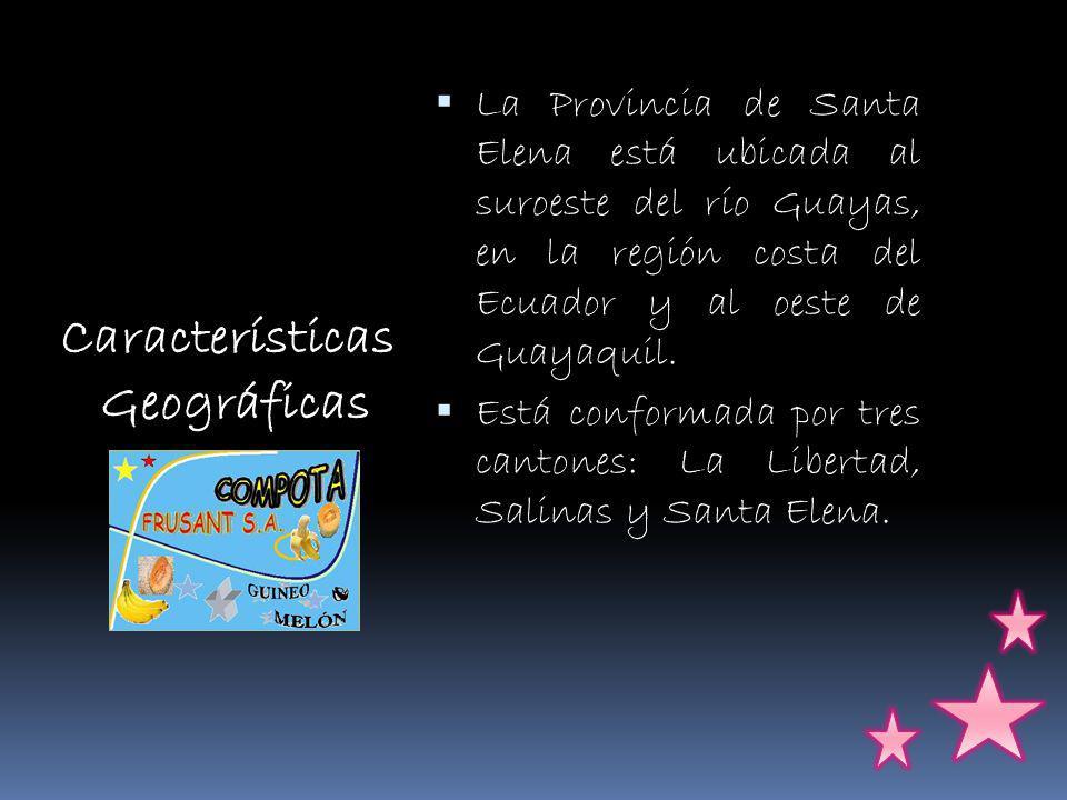 La Provincia de Santa Elena está ubicada al suroeste del río Guayas, en la región costa del Ecuador y al oeste de Guayaquil.